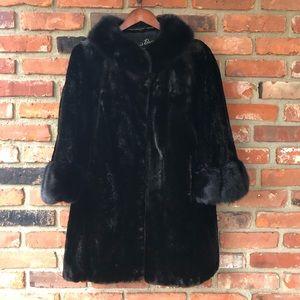 Brown real Fur coat size L